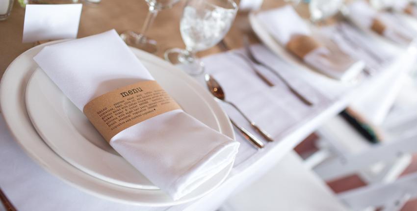 menú de una boda